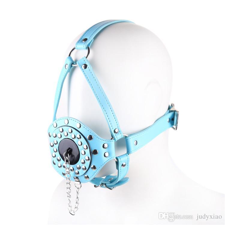 Vrouwelijke harnas gag open mond bijten ring gag stop met dekking sex slaven bondage Great BDSM volwassen speluitrusting