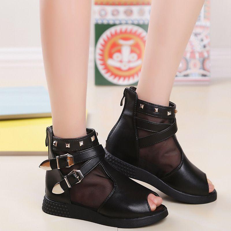 Summer New Girl Sandals Children's Shoes Little Girl Princess Hollow Sandals PU Fabric Girls Shoes Kids Summer Shoes