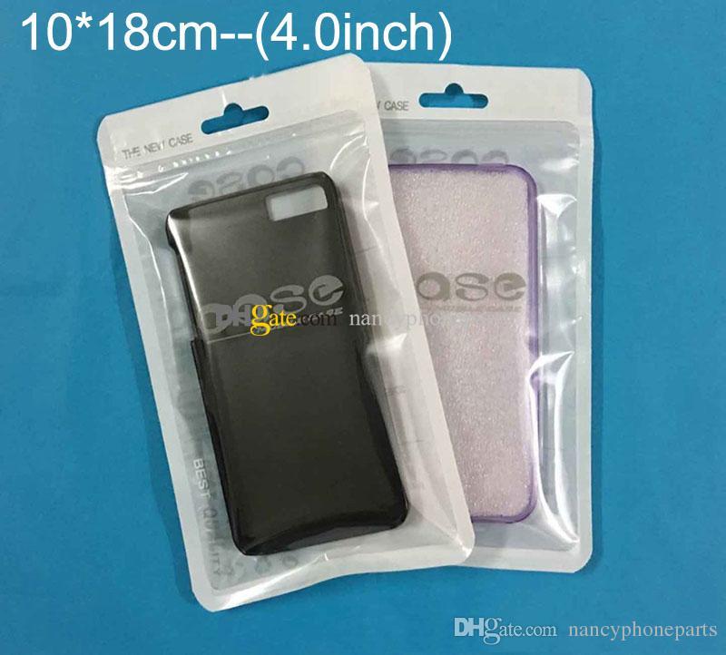 Zip Lock Bags Zipper Retail Package Trasparente Sacchetto trasparente Cellulare iPhone 7 Samsung S8 Custodia Sacchetti di plastica imballaggio Hang Hole Pouches