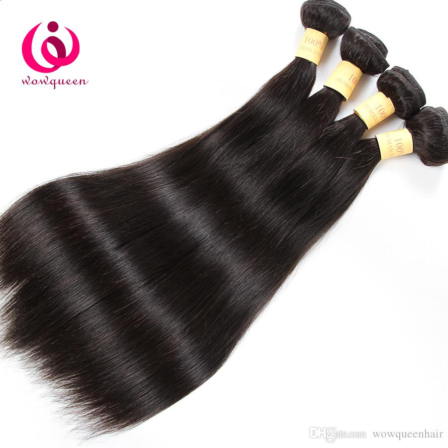 8APeruvian Straight Hair Weave Bundles 8-28inch Wow Queen Hair Prdoducts Cheap Price Soft and Thick Peruvian Virgin Hair Extensions