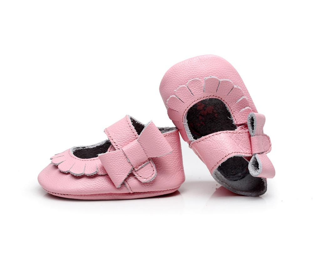 a886126979007 Wholesale- New Genuine Leather Non-slip side bow mary jane summer Baby  Infant Toddler Soft Moccs Shoes 10.5cm-14.5cm flower side