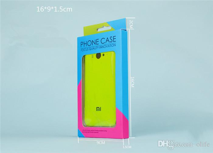 Dual color universal papel de varejo de plástico pacote caixas de caixa de embalagem para o telefone case iphone 8 7 5s 6 6 s plus samsung s6 s7 edge