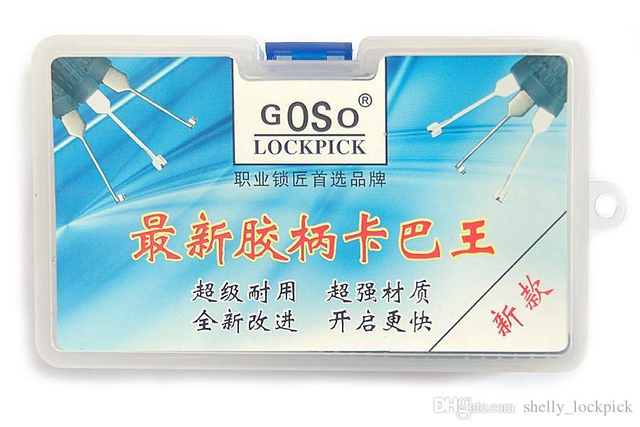 GOSO Kaba e bloqueio de covinha desbloquear Kit diferentes picaretas ferramentas de serralheiro casa fechadura da porta escolher conjunto