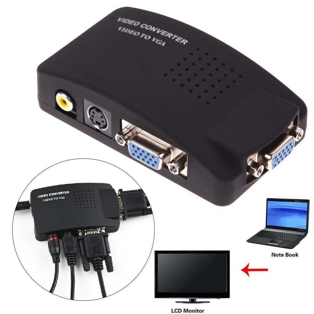 TV Converter Box Universal PC/Laptop AV S Video RCA Composite Video