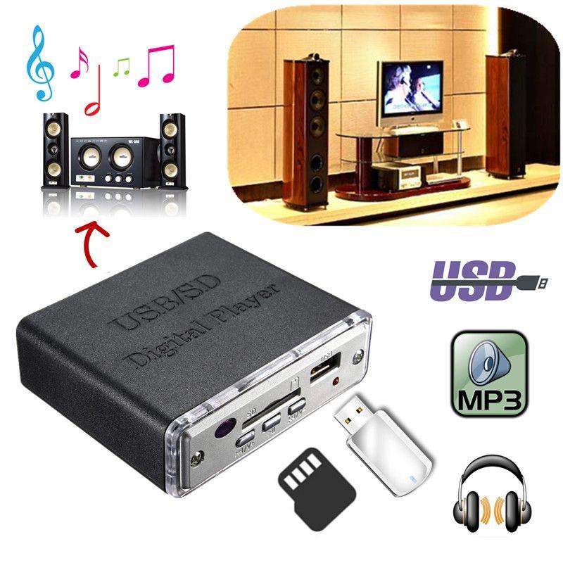 Freeshipping 12V Mini Car Motocycle Stereo Amplifier Amp LED USB/SD Digital Player Mp3