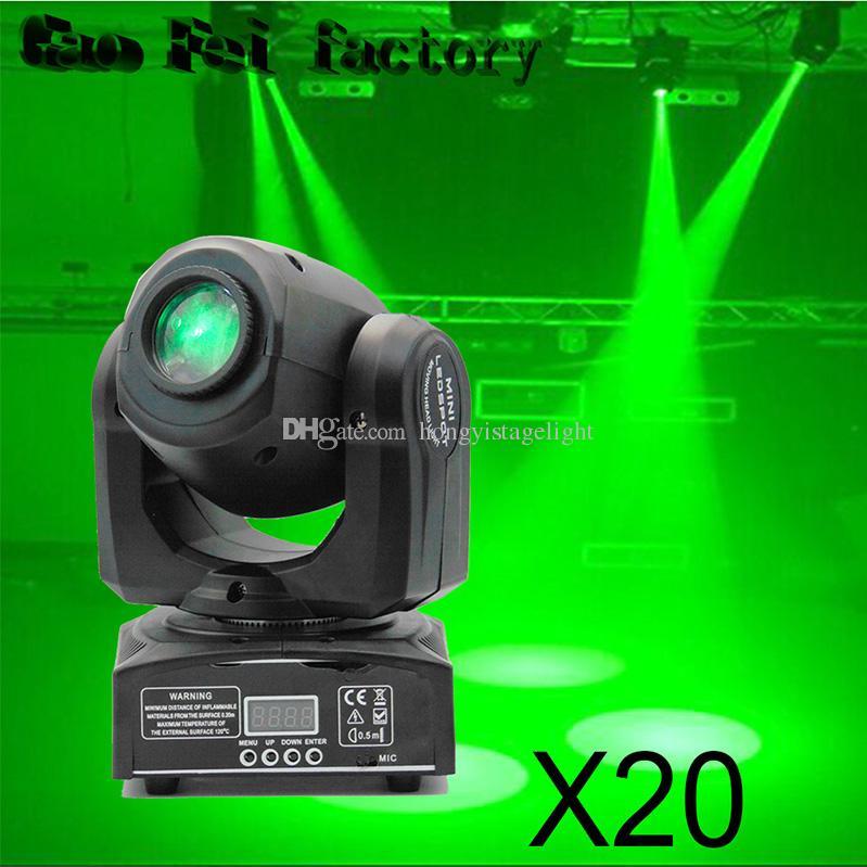 LED Inno Pocket Spot Mini Moving Head Light 10W DMX Dj 8 Gobos