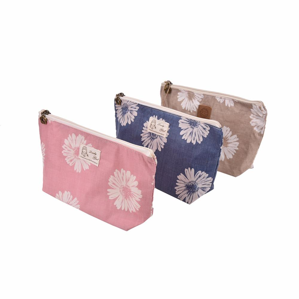 5e7f7b3530 2018 Wholesale Cute Travel Multifunction Cosmetic Bag Women Organizer Handbag  Purse Line Lady Bags Makeup Floral Travelling Bag From Paradise12