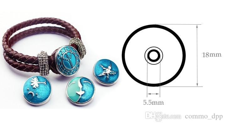 Chegada Nova Noosa botões de pressão pulseira 18 milímetros Ginger snaps Charme Multi-camada trançado envoltório pulseiras para womenmen s Bijuterias