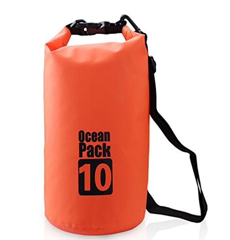 10L Gear Bag Waterproof Duffel Dry Bag Ocean Pack Adjustable Shoulder Strap Included Perfect for Boating/ Kayaking/ Fishing