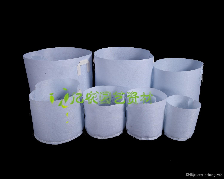 White Garden Non Woven Grow Bag Ventilation Corrosion Resistant Planting Bags Durable Degradable Flowers Pot Factory Direct 13y. KK