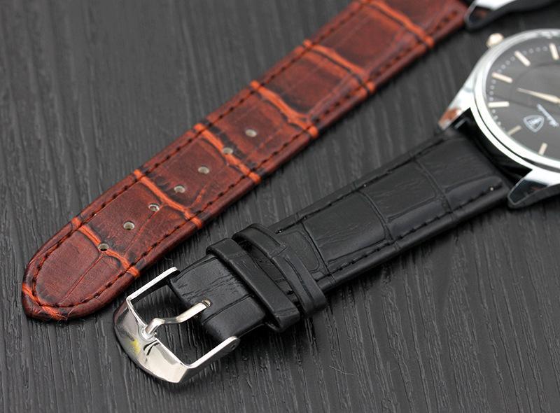 Горячая мода повседневная спортивные часы мужчины кварцевые часы мужские коричневый черный кожаный стекло наручные часы супер современный подарок для мужчин