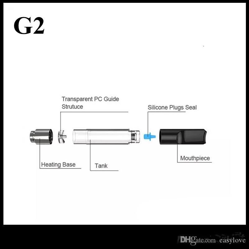 G2 картридж пластиковые капельного наконечника Vape танк воск толстый испаритель масла против свободы V1 V3 V5 V9 Бесплатная доставка
