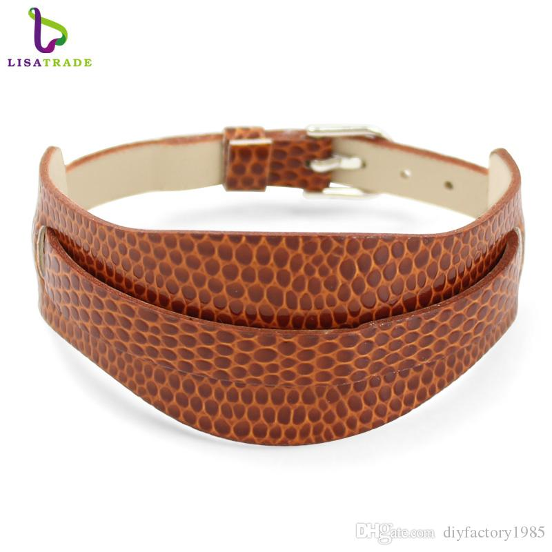 8MM Snake PU Leather Wristband Bracelets DIY Accessory Fit Slide Letter LSBR011*10