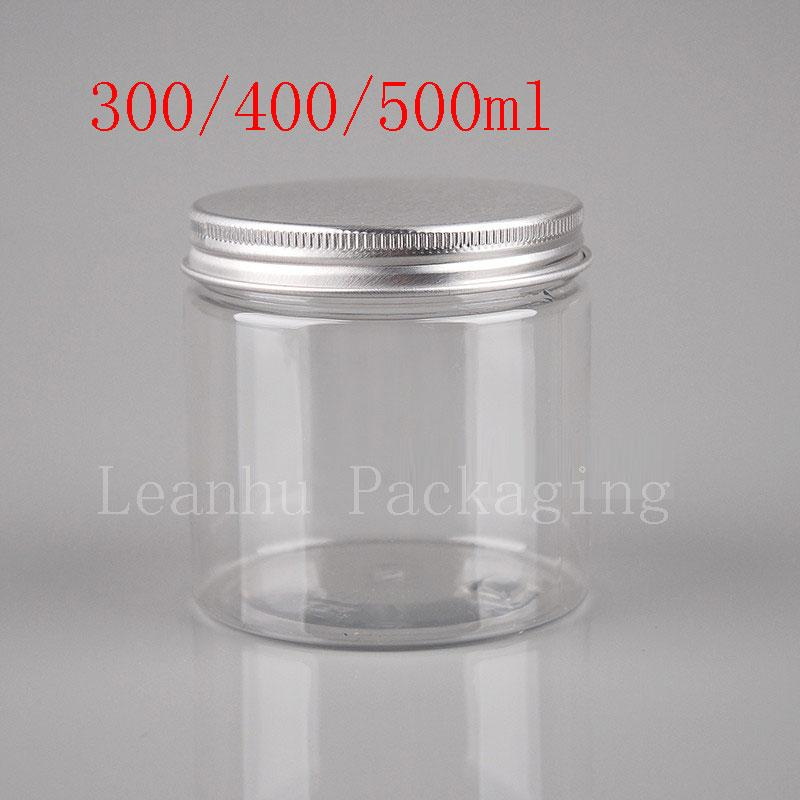 plastic cookie jars  300ml 400ml 500ml Transparent Food Jar With Sealed Screw Lid, Clear ...