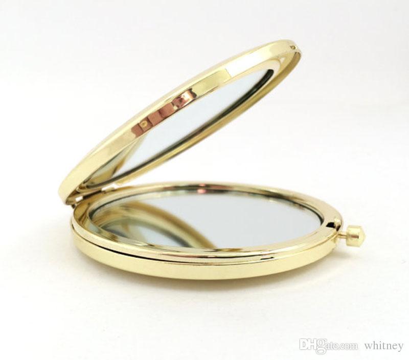 Diseña su propio espejo oro compacto espejo personalizado personalizado mano bolsa de bolsillo DHL envío gratis