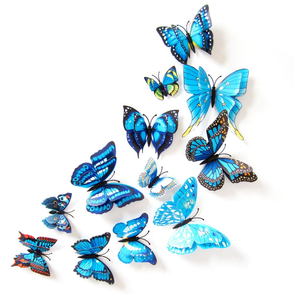 3d Pvc Butterfly Home Decor Butterfly Wall Decals For Kids Room Tv ...