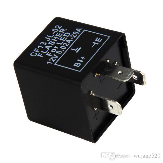 Universal 12 V 3 Pinos 12 V DC 0.02-20A Veículo Flasher Relé Reparar LED Luz Turn Signal Hiper Flash CF13 CF13JL-02 EP34
