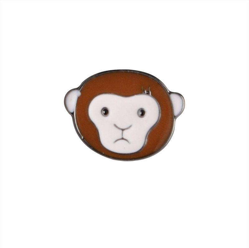 Cute Badge Avocado Monkey Peach Blueberry Metal Brooch Enamel Pin Shirt Collar School Uniform Decoration Children Gift