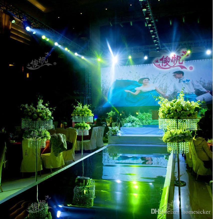 زفاف فاخر يرتكز الممر عداء مرآة السجاد للون محطة الزفاف T الديكور ذهب فضة بيربل روز الأحمر متاح