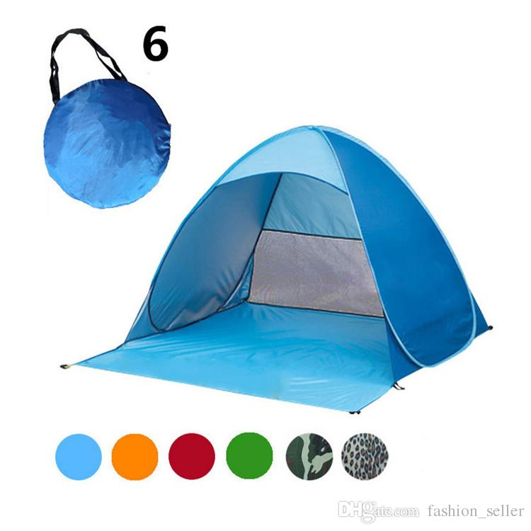 Quick Automatic Opening Tents 50+ UV Protection Outdoor Gear Camping Shelters Tent Beach Travel Lawn Multicolor Nail Factory Price