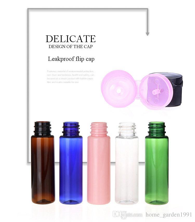DHL Бесплатная 30мл Мини Пластиковые Cosmetic Пустые бутылки с флип Cap Essential крем проб масла Упаковка бутылок Контейнер