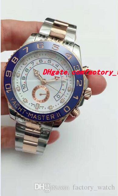f64924e7a Compre Relojes De Lujo Para Hombre II 116681 Esfera Blanca De Dos Tonos 44  Mm Reloj De Pulsera Para Hombre De La Nueva Marca De Moda Automática A  $101.53 ...