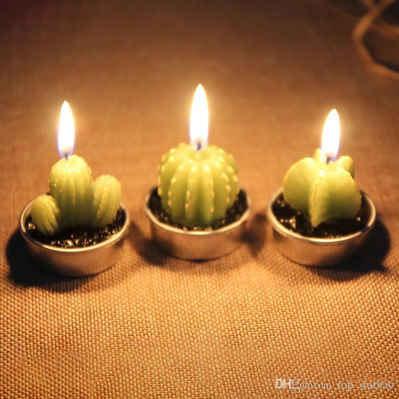 Cactus Scented Candle Green Meat Plant Home Interior Scent Candles