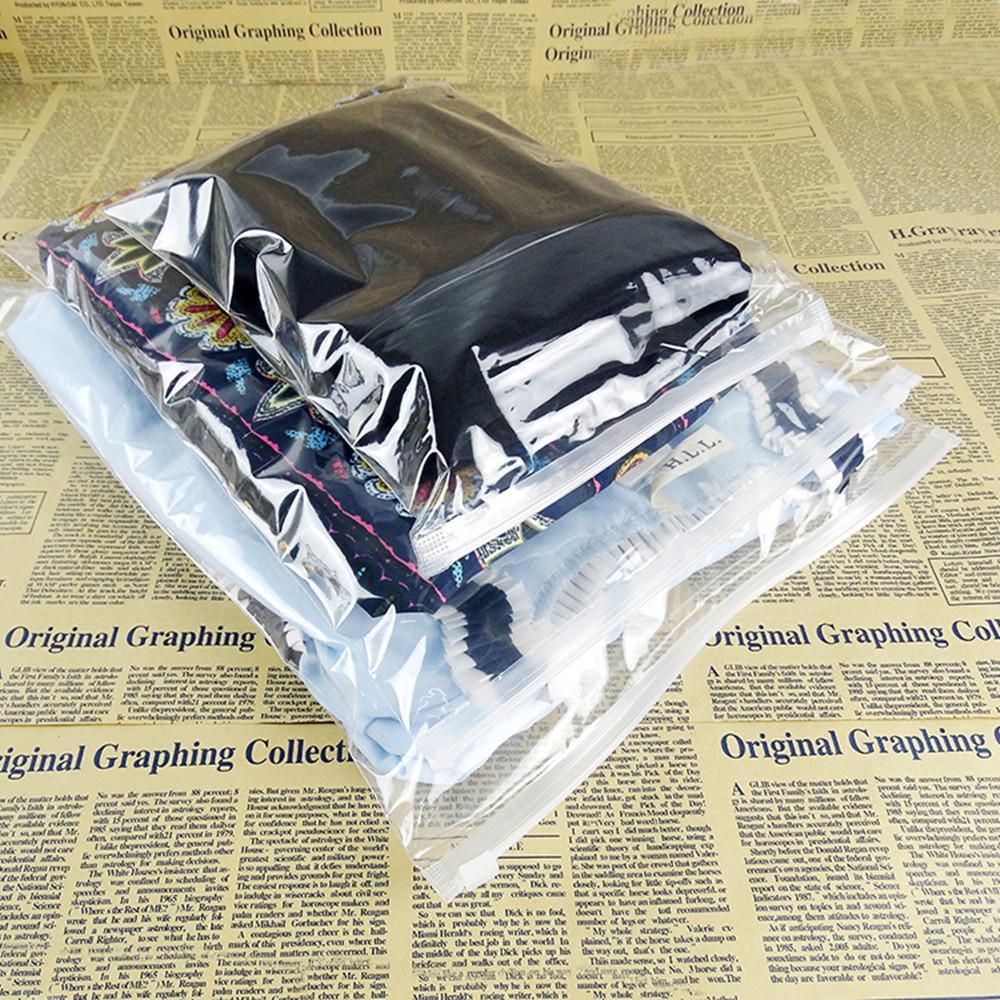 Temizle Paketi Fermuar Kilit Plastik Poşet İçin Elbise Çorap Depolama Şeffaf İç Poly Kılıfı Çanta Ambalaj Perakende Ve Toptan