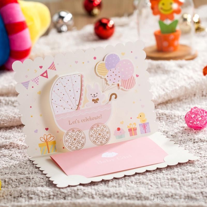 New Baby Girl Pink Christening Celebrating Invitation Cards Baby ...