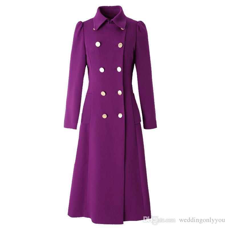 Manteau long femme violet