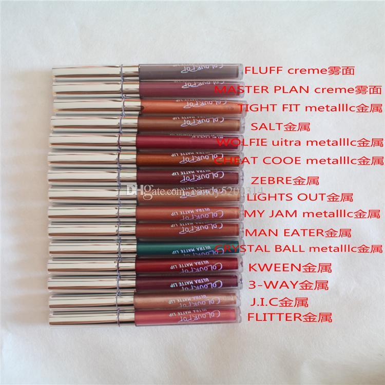 스타킹 !! 2016 최신 도착 컬러 팝 Ultra Matte Velvety 37 색 액체 립스틱 매트 액체 방수 립글로스 LipGloss Matte L27