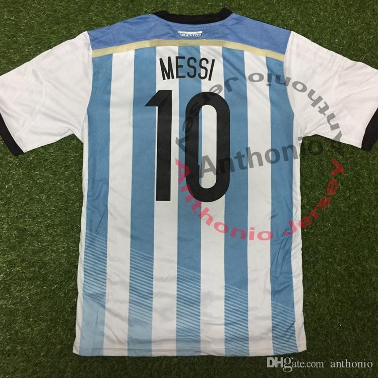 64a316f0f 2019 2014 WORLD CUP ARGENTINA MESSI KUN AGUERO HIGUAIN DI MARIA MARADONA  Thailand Quality Soccer Jerseys Uniforms Football Shirt Camiseta Futbol  From ...