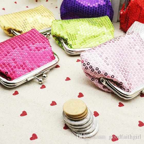 100 pz moda hot vintage mini donne ragazza paillette paillettes portamonete portachiavi portafoglio hasp piccola borsa cambio borsa frizione regalo di natale