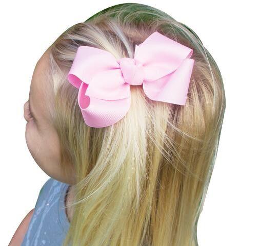 Cheveux Bows Coupes à cheveux Coréen 3 pouces Grosgrain Ruban Baby Baby Girl Accessoires avec Clip Boutique Ties HD3201