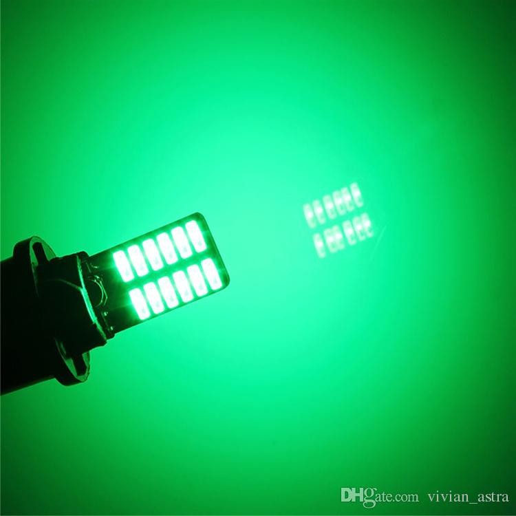 4 pz / lotto 800 lumen T10 W5W 2835 168 LED CanBus Errore gratuito 4014 24 SMD 5W auto targhe laterali porta targa luci LED