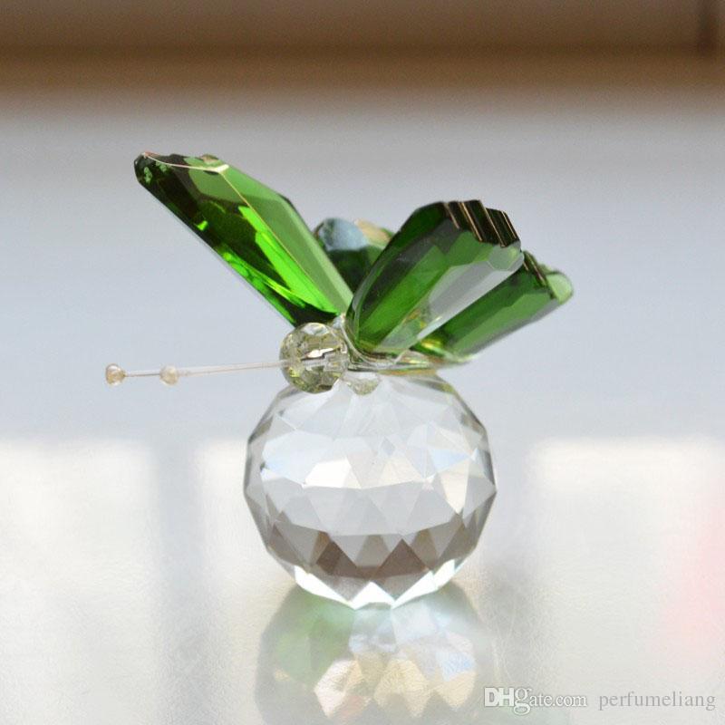 Кристалл коллекция драгоценные красочные бабочки сувенир свадебный душ свадебные украшения день рождения выступает Бесплатная доставка ZA4592