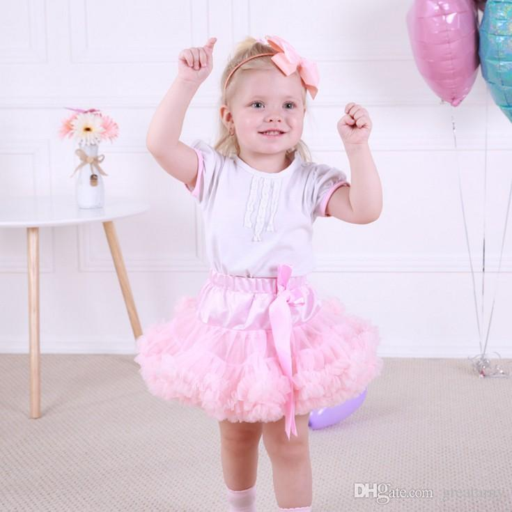 0-10T Baby Girls Tutu Skirts Bow Gauze Fluffy Pettiskirts Tutu Princess Party Skirts Ballet Dance Wear High Quality