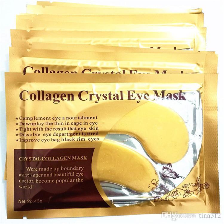 Hot sale fashion Gold Crystal Sleeping Eye Mask Eye Patches Face Care Skin Eye Care mask FB085