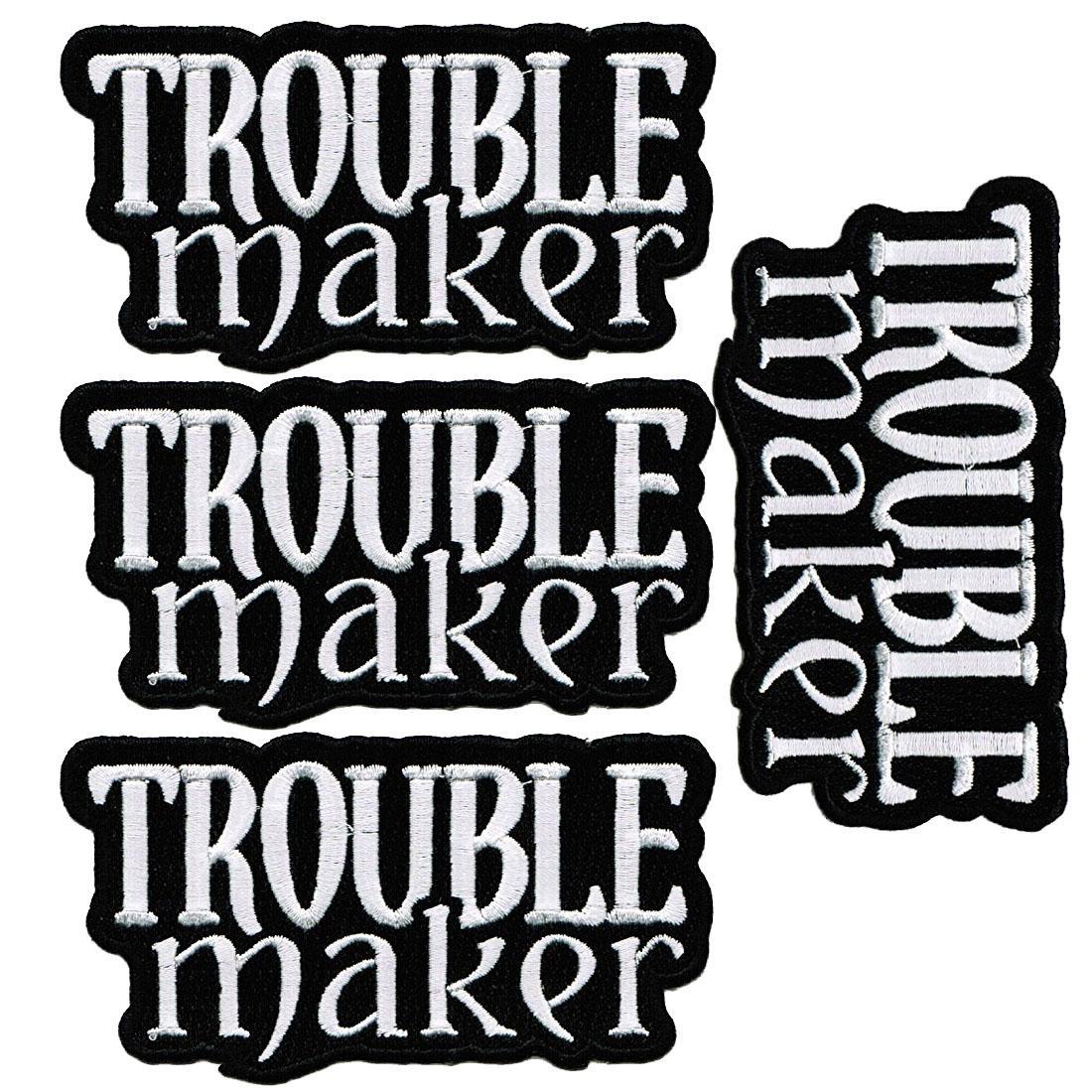 트러블 메이커 패치로 저렴한 가격에 수 놓은 반란군 철로 위험한 로고 무료 배송