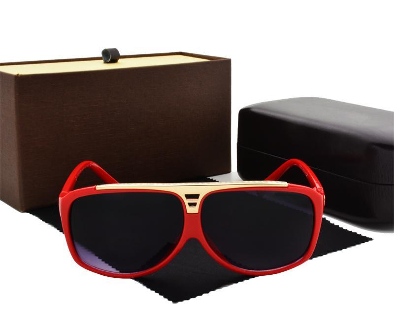 Высокое Качество, Модные Солнцезащитные Очки Мужчины Женщины Дизайнер Очки Очки Для мужчин Женские Солнцезащитные очки 5 цвет с Розничной коробке и случае