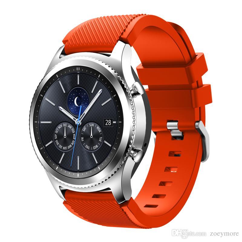d9dc9eb6115 Para samsung gear s3 bandas silicone smart watch band 22mm substituição  esporte pulseira pulseira pulseira para samsung gear s3 clássico   fronteira