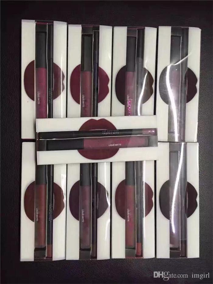 2017 más caliente Mate Lápiz labial Líquido Brillo de labios Maquillaje de larga duración Brillo de labios Trofeo Mujer Icono Vixen es libre de dhl