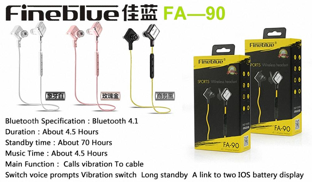Newest Original Fineblue Wireless Bluetooth Earphone Support Report Number For Iphone 7 7plus 6s Samsung Huawei Xiaomi DHL