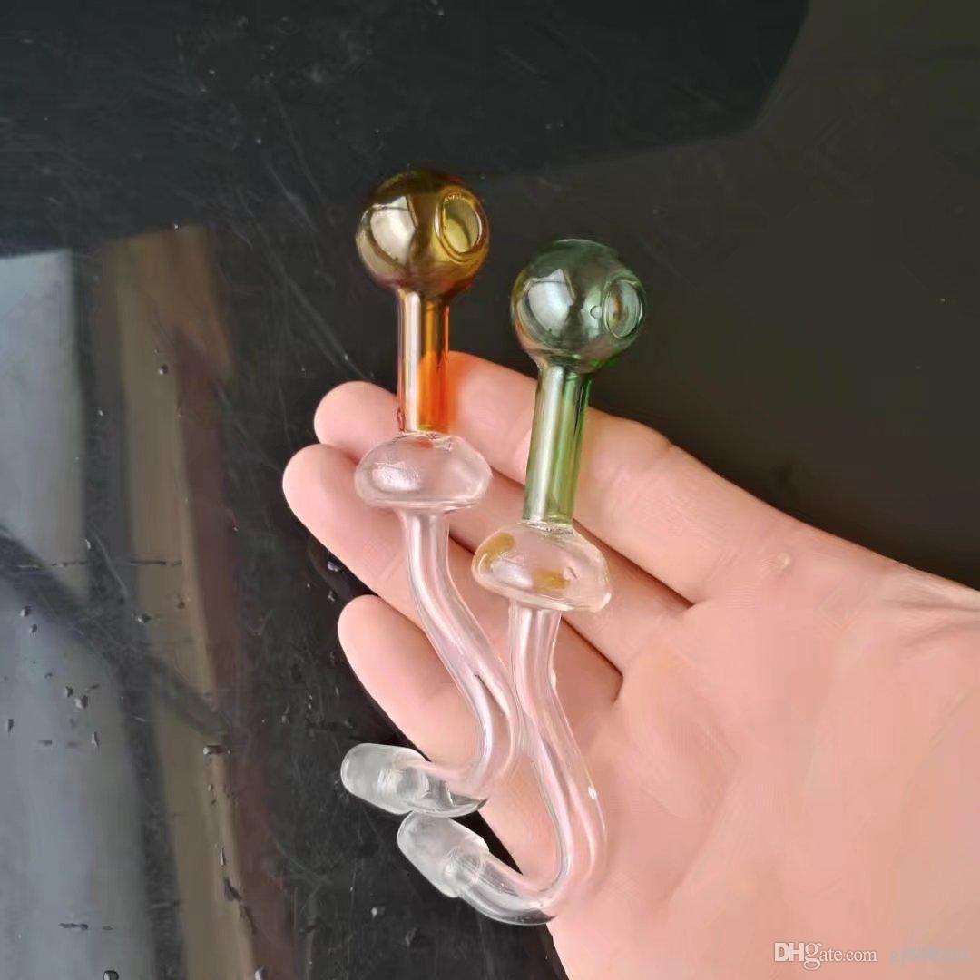 Цвет долго изогнутые горшок стеклянные бонги аксессуары, стеклянные курительные трубки красочные мини многоцветные ручные трубы Лучшая ложка глас