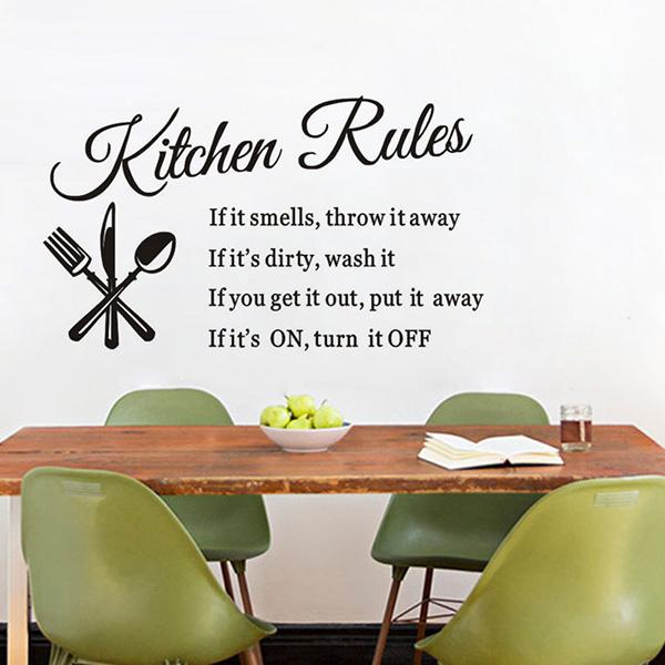 Kitchen Wall Decals Wallpapers Words U0026 Quotes Waterproof Stickers Plane  Decorative Stickers Vinyl Material Removable Sticker For New Home Wall  Sticker Wall ...