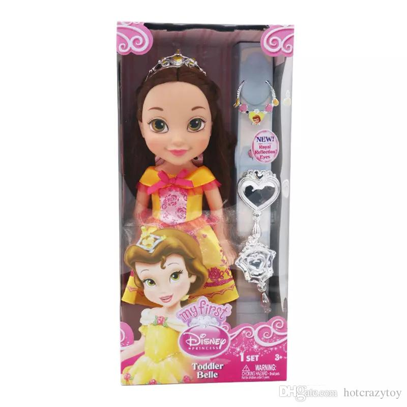 hot sale lovely doll Belle dolls 35cm the princess dolls with beautiful coloth girls party love cute kids gift lovely dolls