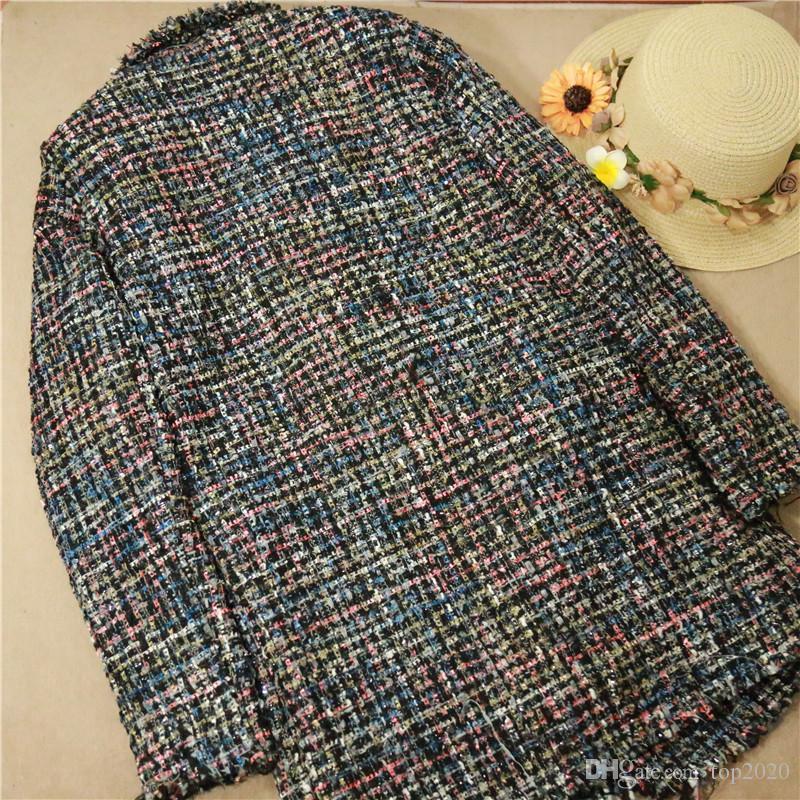 Mulheres senhoras de Inverno De Veludo Tecido senhoras OL sexy borla boutique de Luxo famosa marca de moda Retro macio lapela botão de pérola casaco