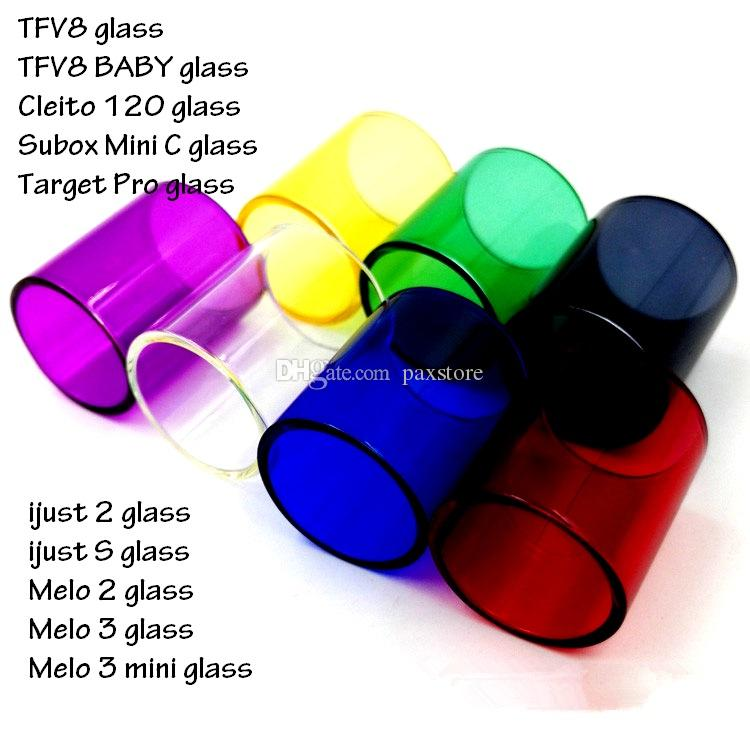 E Cig Replacement Glass Tube for SUBOX MINI C KIT TFV8 Baby Target Pro IJUST 2 IJUST S MELO 2 MELO 3 MINI