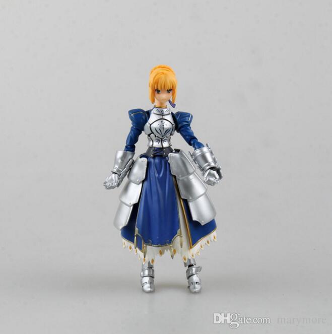 Figma # 227 Fate stay Noite Sabre 14 cm japonês figura dos desenhos animados coleção PVC anime modelo de brinquedo Decoração caixa-embalado T7420