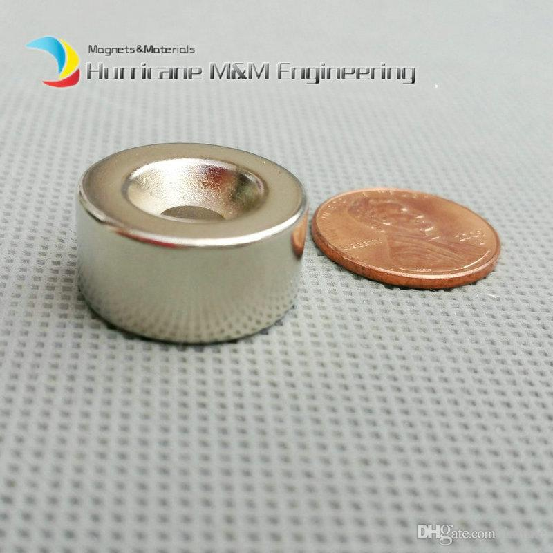 Countersunk Hole Magnet about Diameter 20x10mm Thick M5 Screw Countersunk Hole Neodymium Rare Earth Permanent Magnet